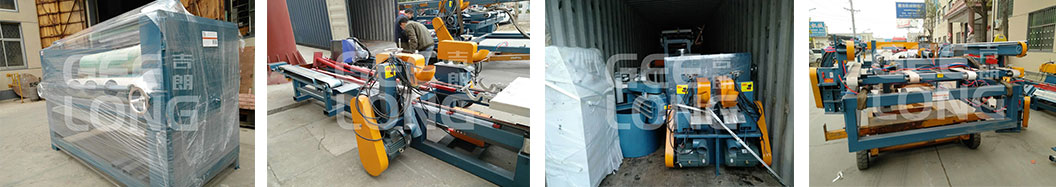 Glue spreader machine, plywood edge cutting saw machine are exported