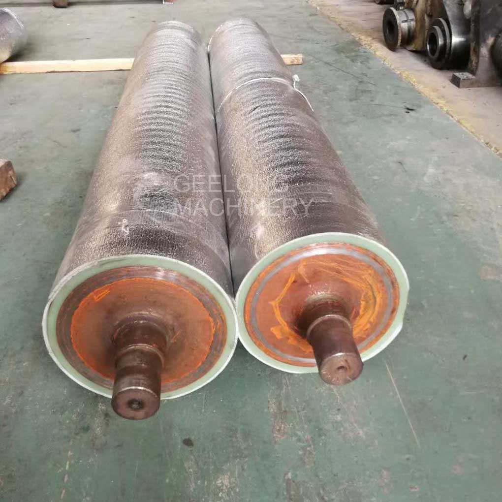 Sanding machine rubber roller
