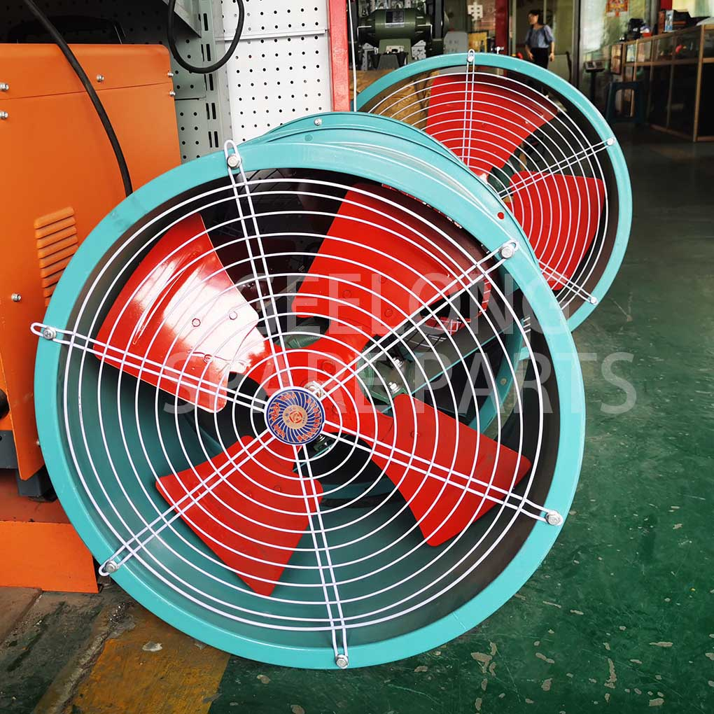 Cooling fan for plywood cooling work