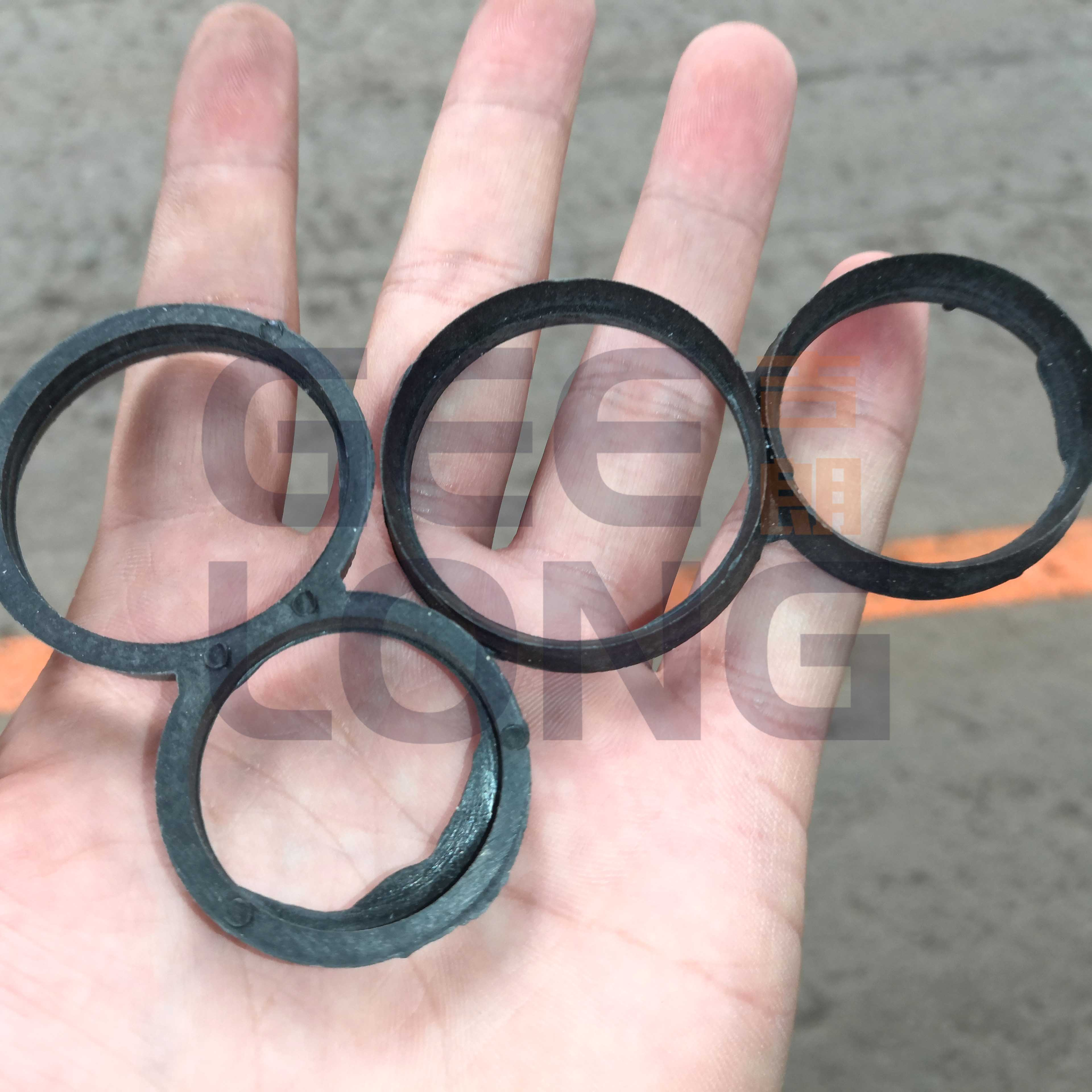 Plastic 8 ring for preventing fancy wood logs cracking