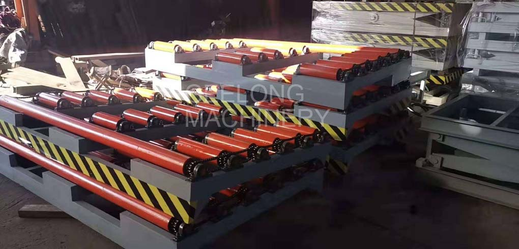 board lifter machine with conveying roller on the top